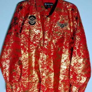 Red Ape Red Splatter Gold Service Shirt XL